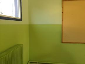 Βάψιμο αιθουσών του σχολείουμας